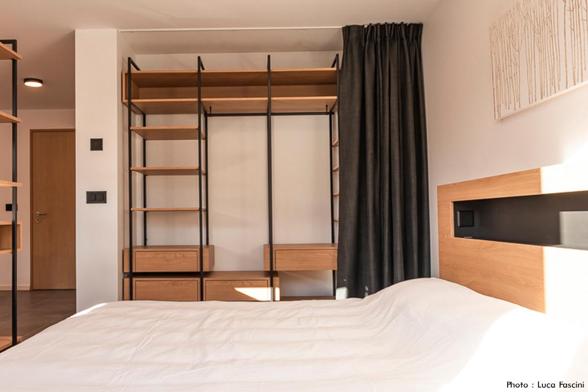 Tête de lit bois
