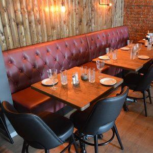 banquette pour hôtel et restaurant